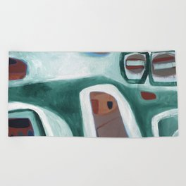 Rock Face Beach Towel