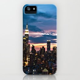 New York City By Night iPhone Case