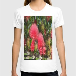 Wild fluffy red flowers T-shirt