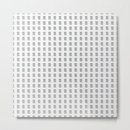 Simple Black and White Watercolor Stripes x Three Metal Print
