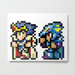 Final Fantasy II - Cecil and Kain Metal Print