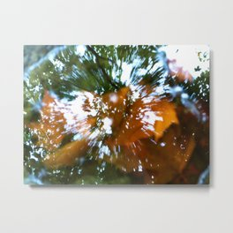 Psychedellic Puddle Metal Print
