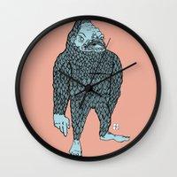 bigfoot Wall Clocks featuring Bigfoot by Mason W
