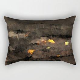 Abstract landscape nature texture lava fire geology digital illustration Rectangular Pillow