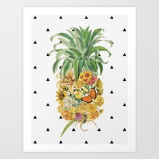 Pineapple Floral Art Print