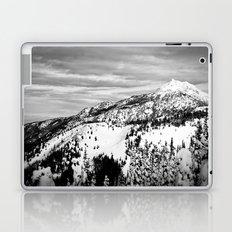 Snowy Mountain Peak Black and White Laptop & iPad Skin