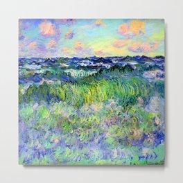 Claude Monet Sea at Pourville Metal Print