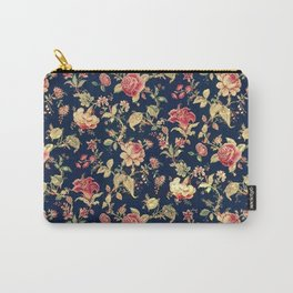 Shabby Floral Print Carry-All Pouch
