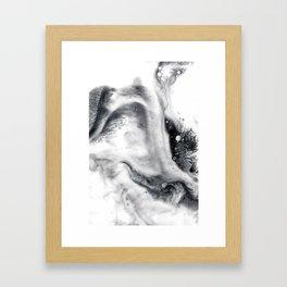 Ink in Milk Black and White liquid Nr.01 Framed Art Print