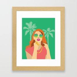 Lana Palm Trees Framed Art Print