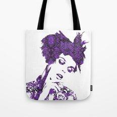 Purple Fashion Floral Tote Bag