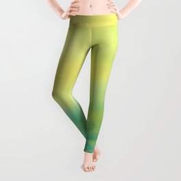 YELLOW & BLUE TOUCHING #1 #abstract #art #society6 Leggings