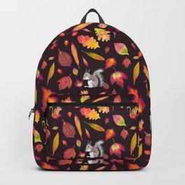 Squirrels, chipmunks and leaves Backpack