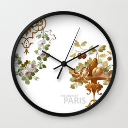THE DISCREET PARIS Spring blooms and fruits Wall Clock
