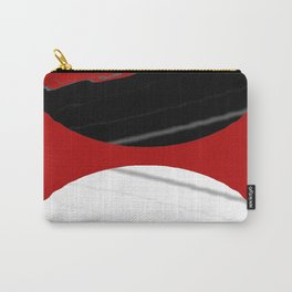 red black white grey abstract digital painting Carry-All Pouch