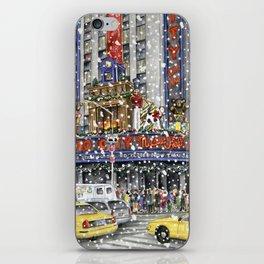 NY at Christmas iPhone Skin