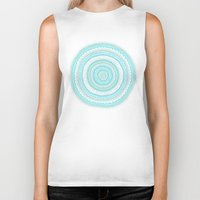 carousel Biker Tanks featuring Dreamy Carousel by Anita Ivancenko