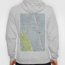 Vintage Northern Outer Banks Map (1940) Hoody