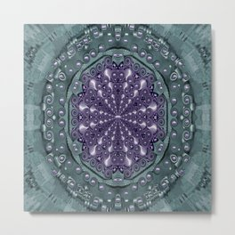 Star and flower mandala in wonderful colors Metal Print