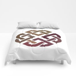 St. Patrick's Day Celtic Red Knot #2 Comforters