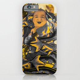 Peace Love Buddha Vibrations iPhone Case