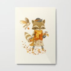 Rebecca the Radish Raccoon Metal Print