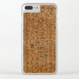 Papyrus of Amenhotep Clear iPhone Case