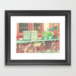 Baggage Cart Framed Art Print