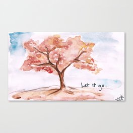 Let it go.  Canvas Print