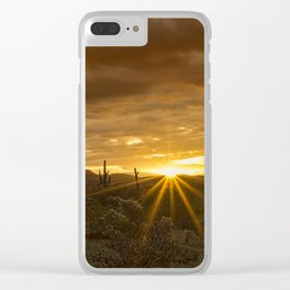 A Southwestern Sunrise Clear iPhone Case