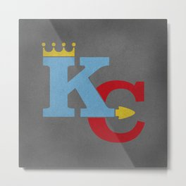 Kansas City Sports Red & Blue Metal Print