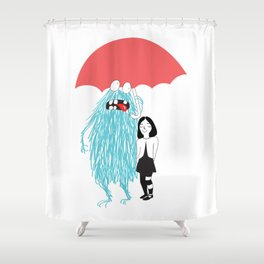 Chama & Leon's Umbrella Shower Curtain