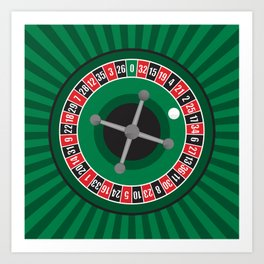 Roulette Wheel Art Print