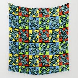 Pop Turtles Wall Tapestry