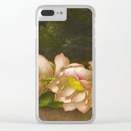 Martin Johnson Heade - Lotus Flowers Clear iPhone Case