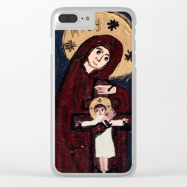Mother of the Crucified Child Clear iPhone Case