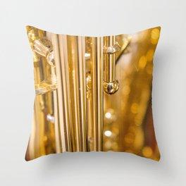 Dazzling Sound Contemporary Saxophone Throw Pillow