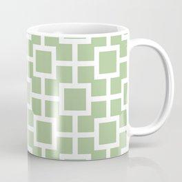 Classic Hollywood Regency Pattern 221 Sage Green Coffee Mug