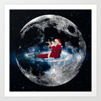 santa Art Prints featuring Santa by Cs025