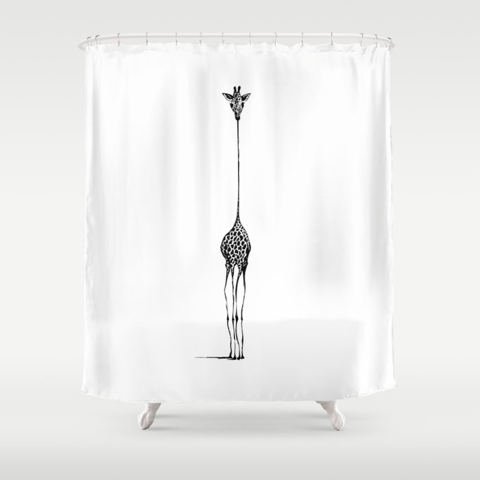 giraffe shower curtain by nicolecioffe society6 22714