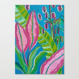 Pink Leaf Canvas Print