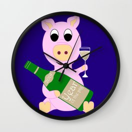 Happy New Year 2019 Year Of The Pig Gift Wall Clock