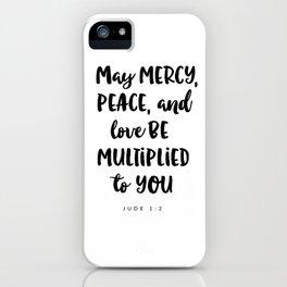 Jude 1:2 - Bible Verse iPhone Case