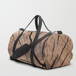 Brown Wood Duffle Bag