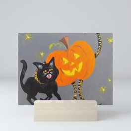 Jack and Black Cat Mini Art Print
