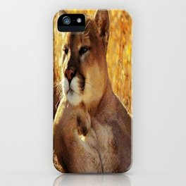 The Golden Thinker 🐾 Cougar 🐾 iPhone Case