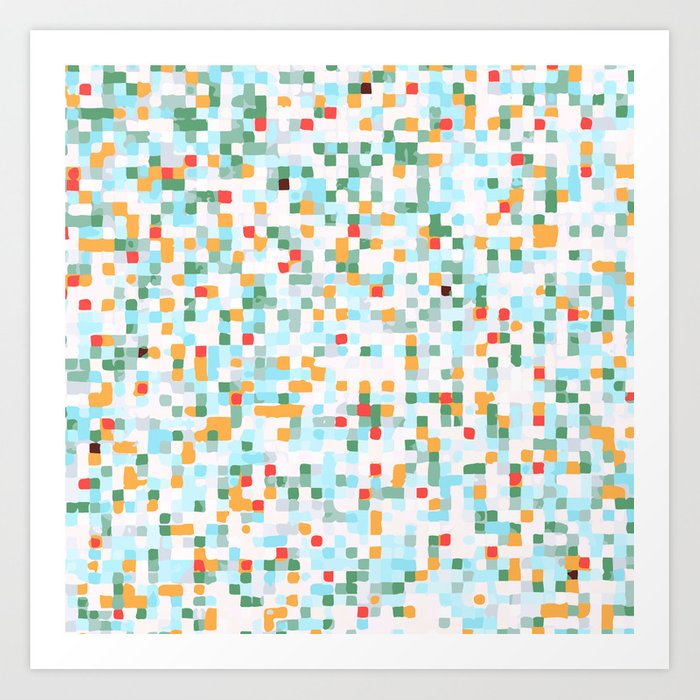 handmade coloured squares Art Print