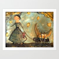 Moon Keeper Art Print