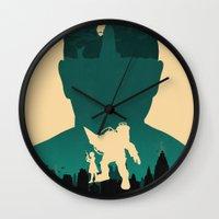 bioshock Wall Clocks featuring Bioshock by Bill Pyle