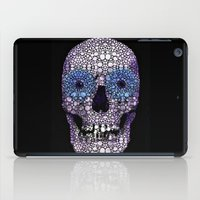 crossfit iPad Cases featuring Skull Art - Day Of The Dead 2 Stone Rock'd by Sharon Cummings
